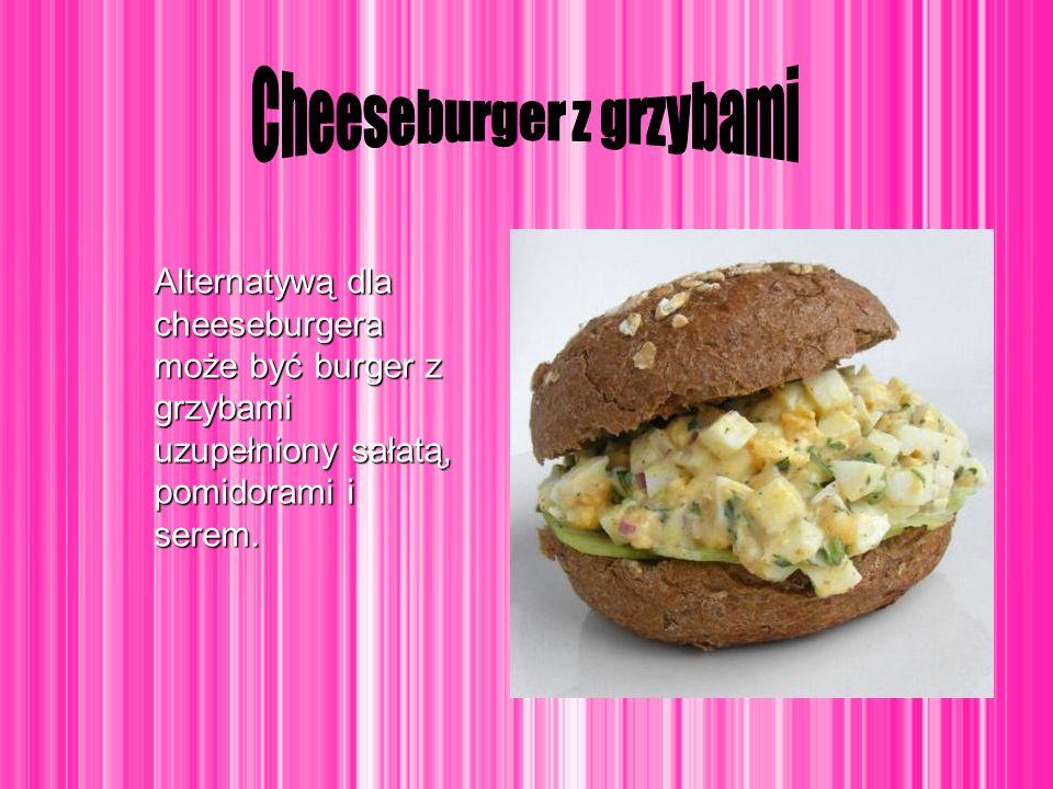 Cheeseburger z grzybami