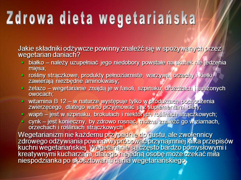 Zdrowa dieta wegetariańska