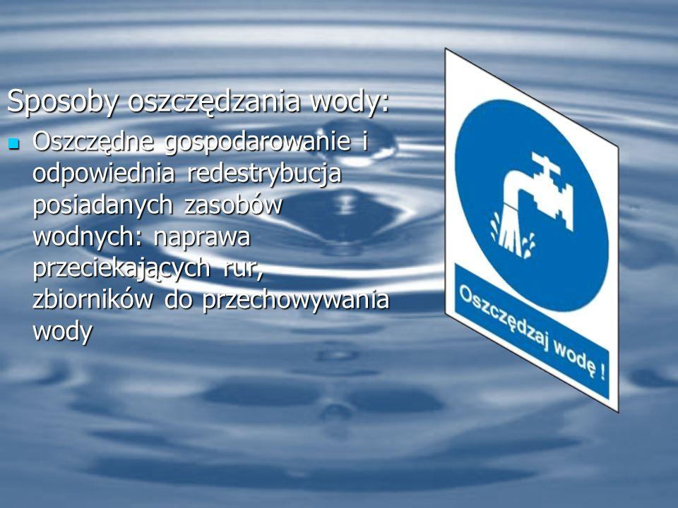 Sposoby oszczędzania wody: