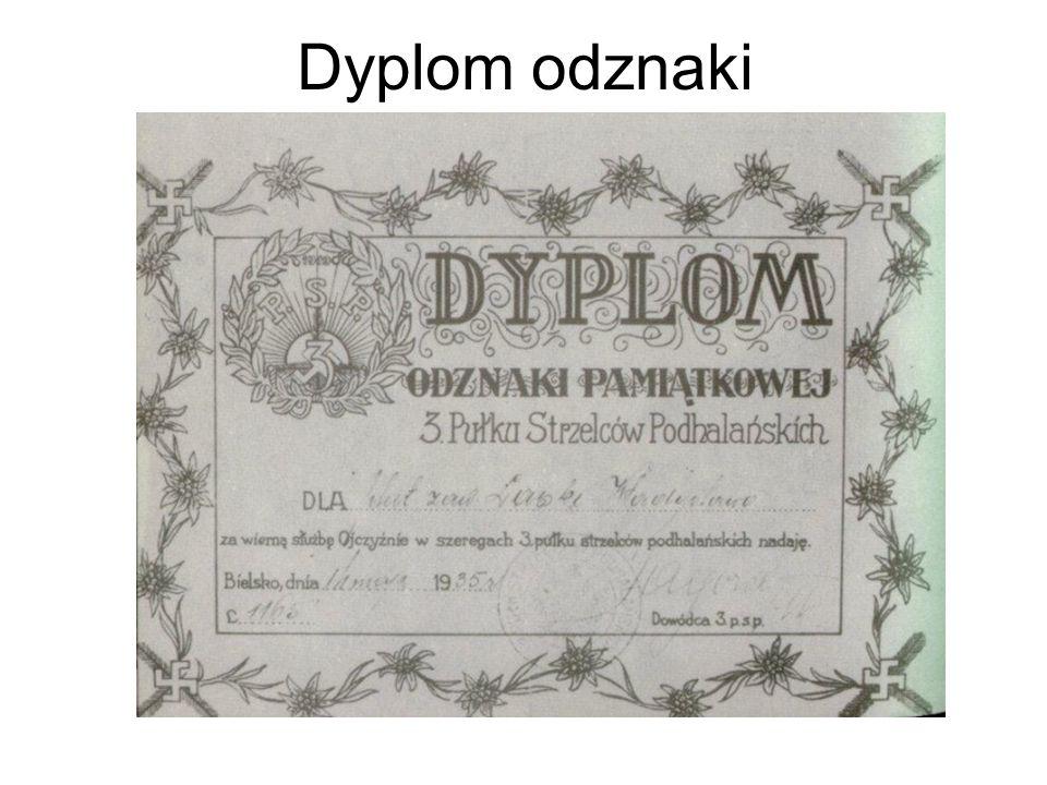 Dyplom odznaki