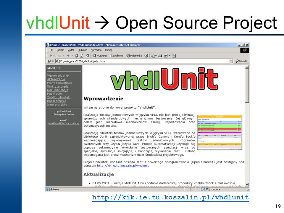 vhdlUnit  Open Source Project