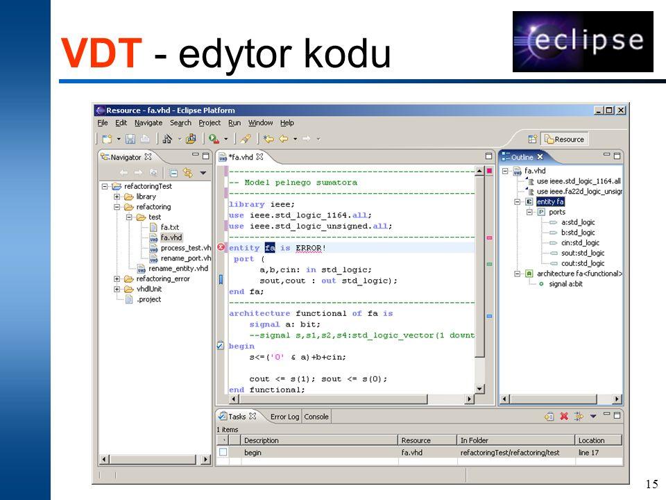 VDT - edytor kodu