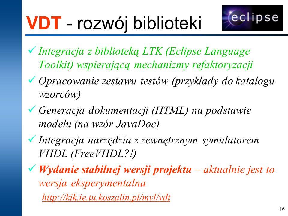 VDT - rozwój biblioteki