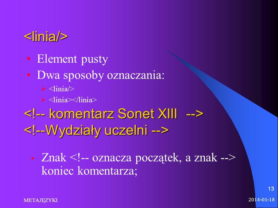 <!-- komentarz Sonet XIII --> <!--Wydziały uczelni -->