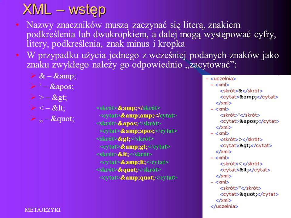 XML – wstęp