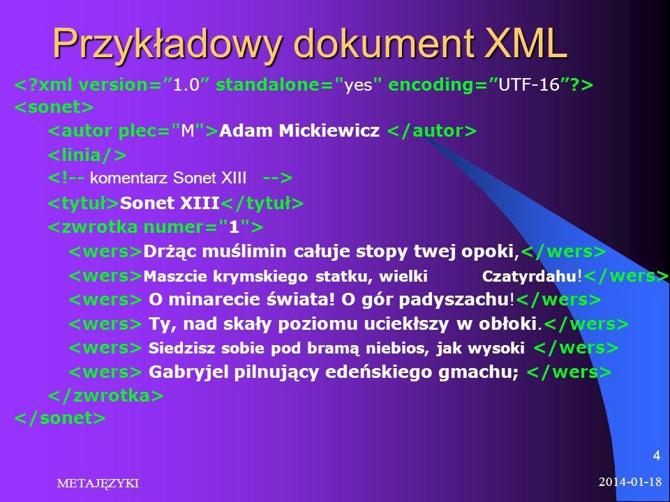 Przykładowy dokument XML