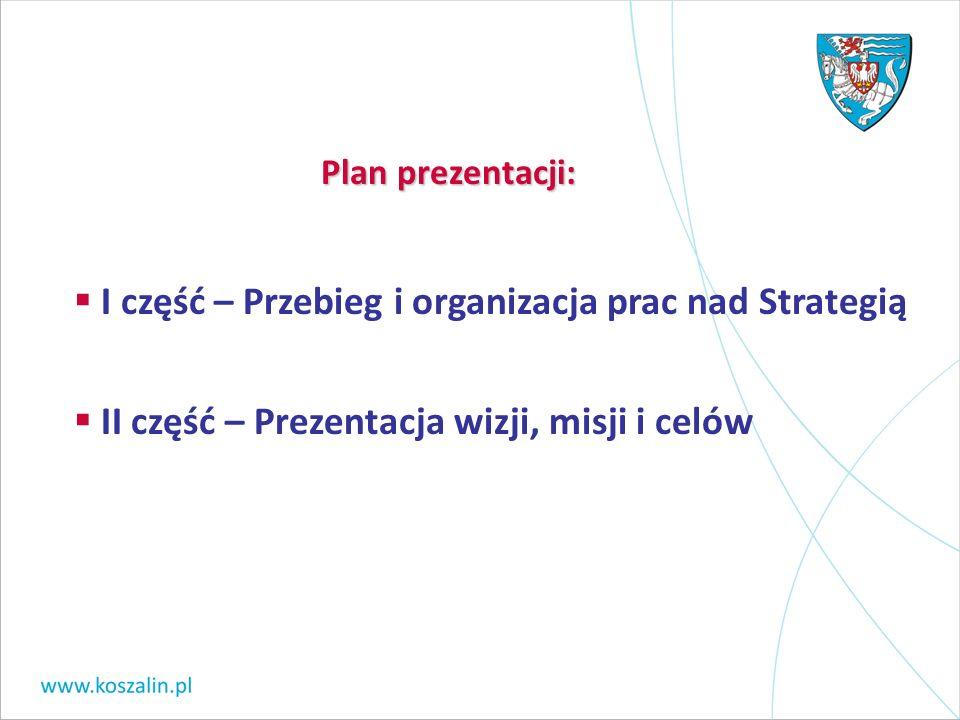 I część – Przebieg i organizacja prac nad Strategią