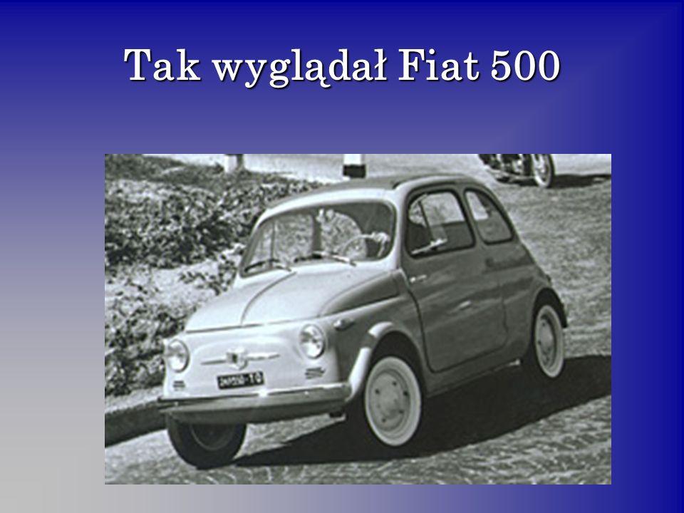 Tak wyglądał Fiat 500
