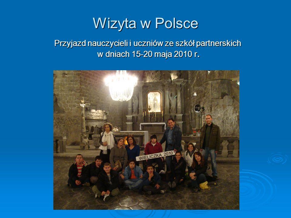 Wizyta w Polsce Przyjazd nauczycieli i uczniów ze szkół partnerskich w dniach 15-20 maja 2010 r.