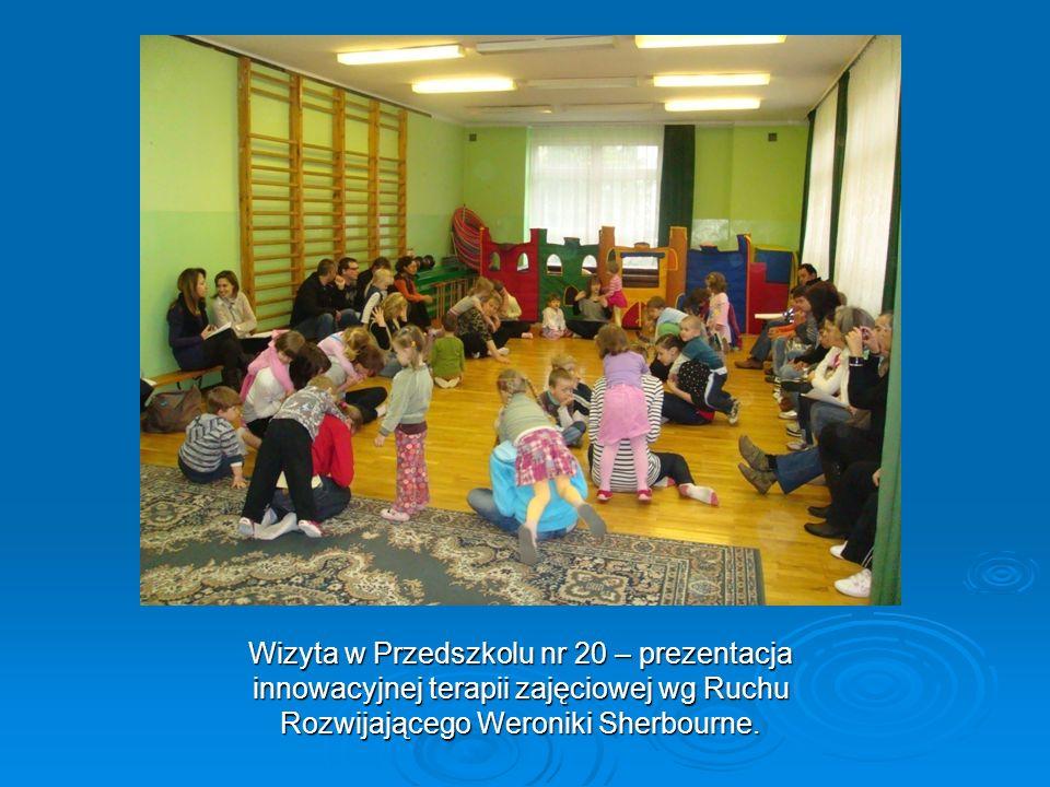 Wizyta w Przedszkolu nr 20 – prezentacja innowacyjnej terapii zajęciowej wg Ruchu Rozwijającego Weroniki Sherbourne.