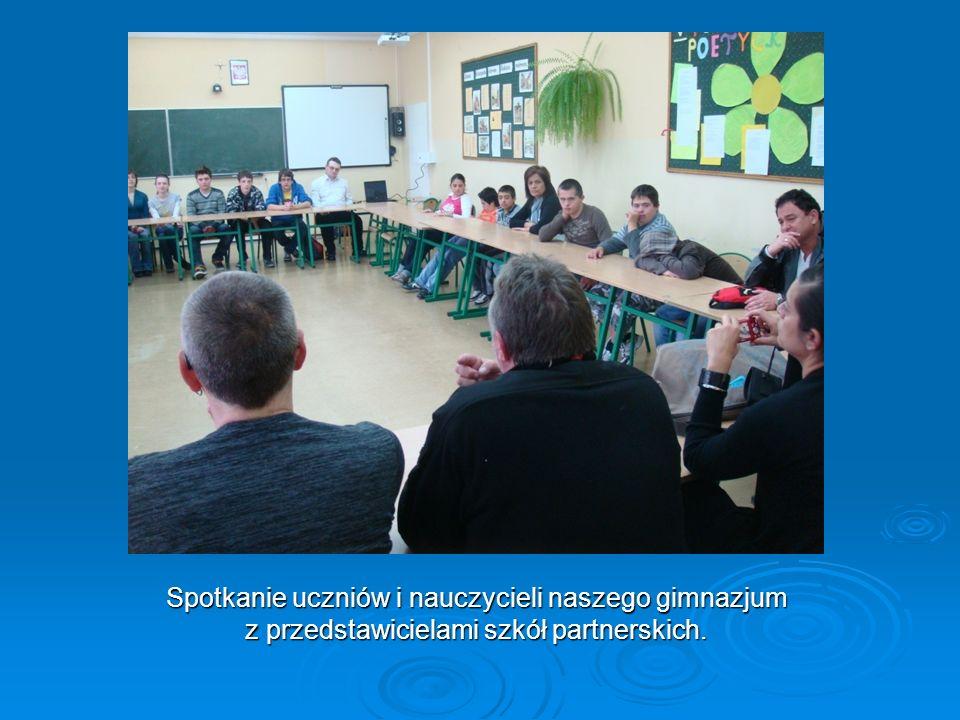 Spotkanie uczniów i nauczycieli naszego gimnazjum z przedstawicielami szkół partnerskich.