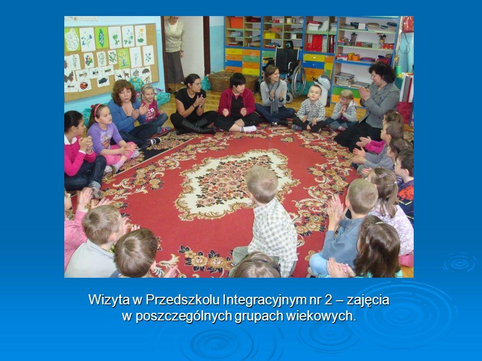 Wizyta w Przedszkolu Integracyjnym nr 2 – zajęcia w poszczególnych grupach wiekowych.