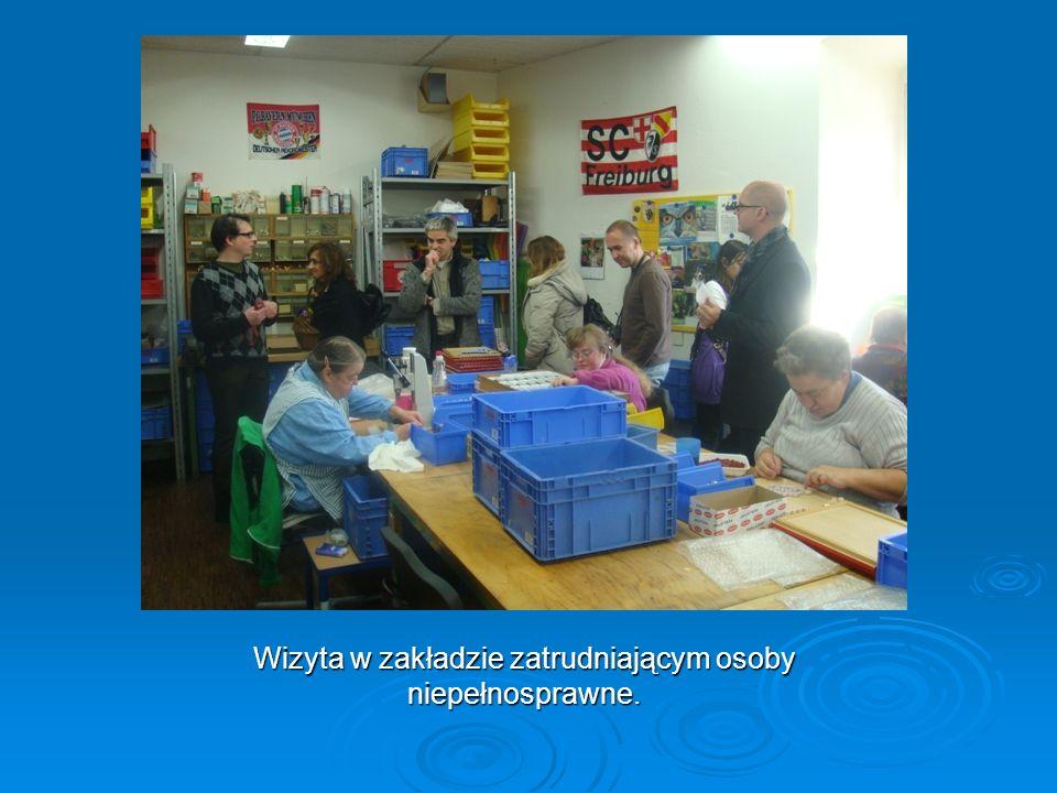 Wizyta w zakładzie zatrudniającym osoby niepełnosprawne.