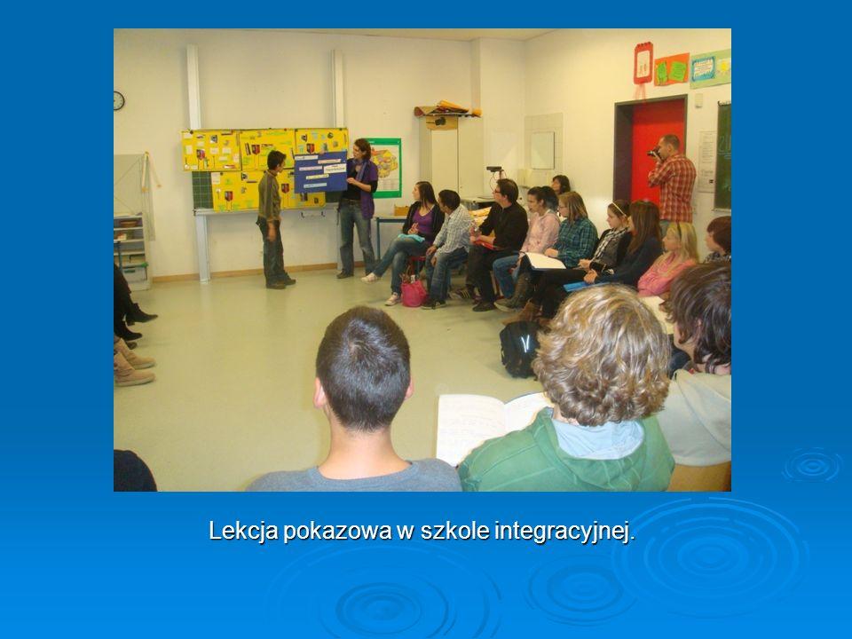 Lekcja pokazowa w szkole integracyjnej.