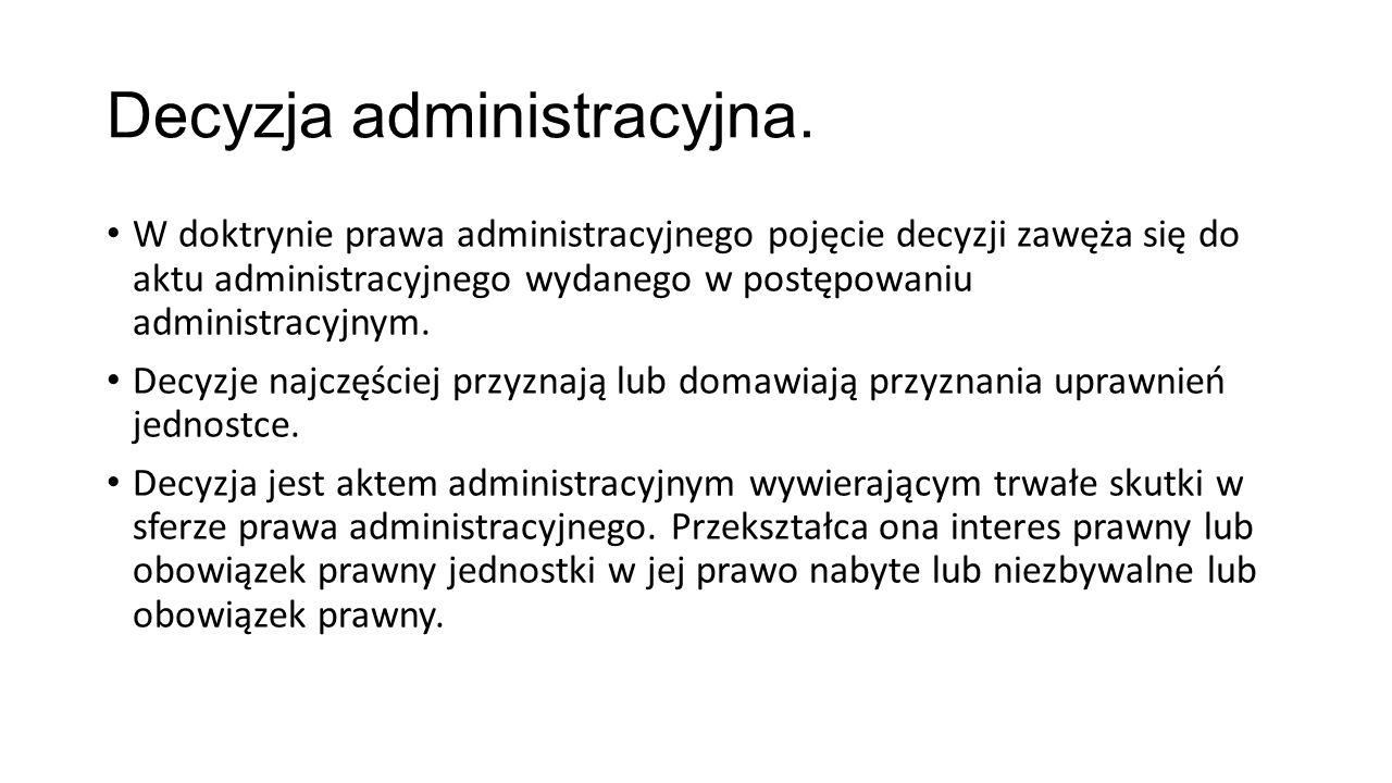 Decyzja administracyjna.