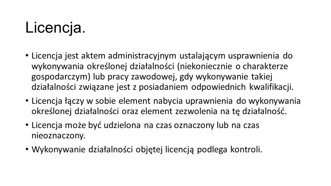 Licencja.
