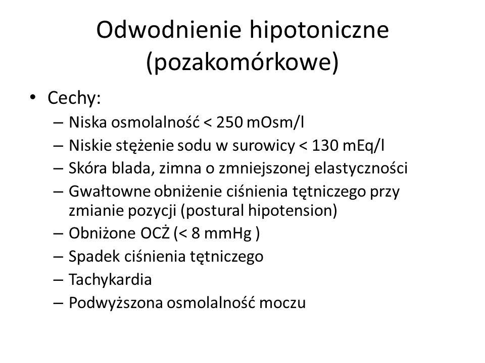 Odwodnienie hipotoniczne (pozakomórkowe)