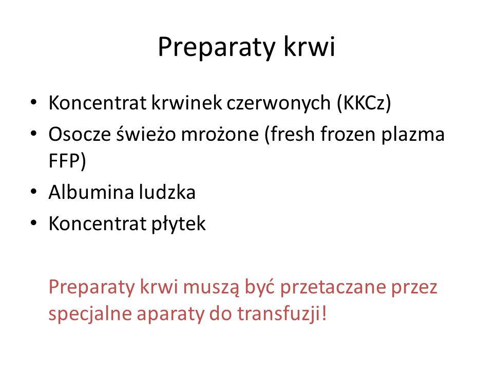 Preparaty krwi Koncentrat krwinek czerwonych (KKCz)