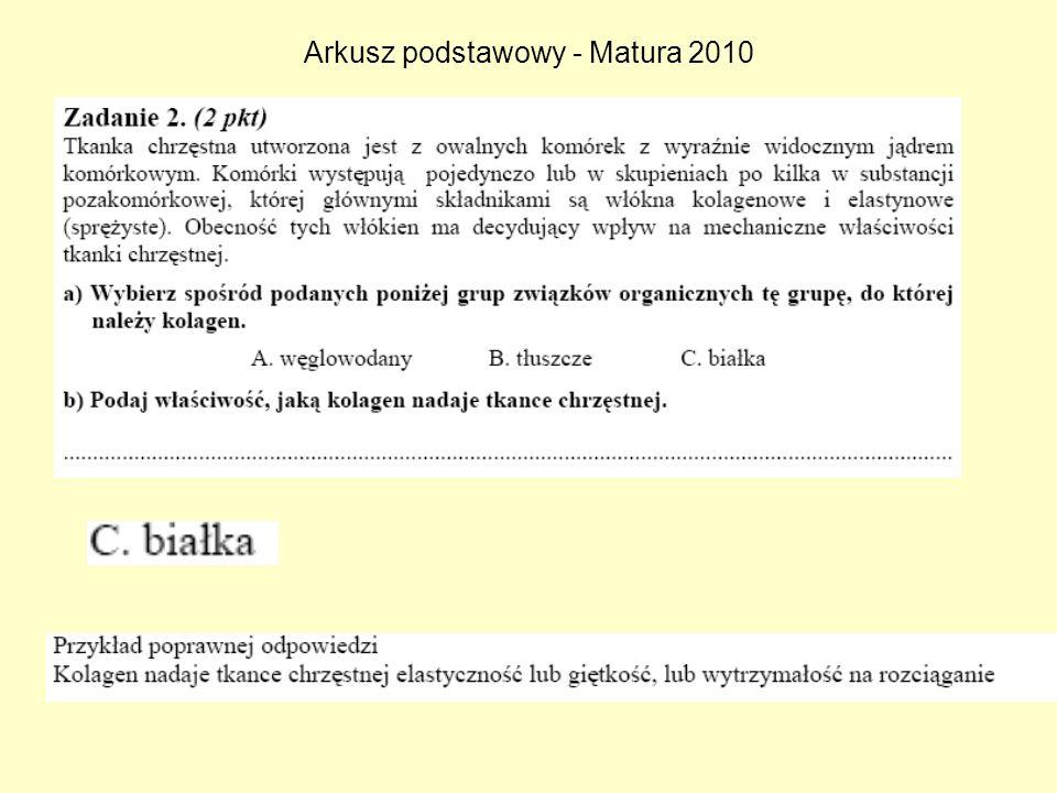 Arkusz podstawowy - Matura 2010