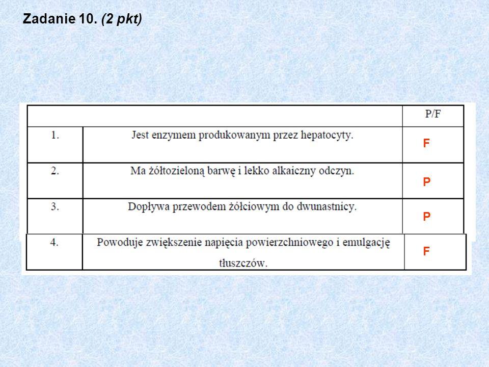 Zadanie 10. (2 pkt) F P P F