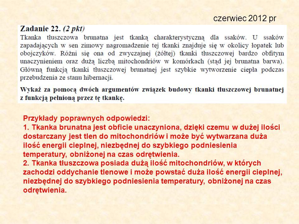 czerwiec 2012 pr Przykłady poprawnych odpowiedzi: