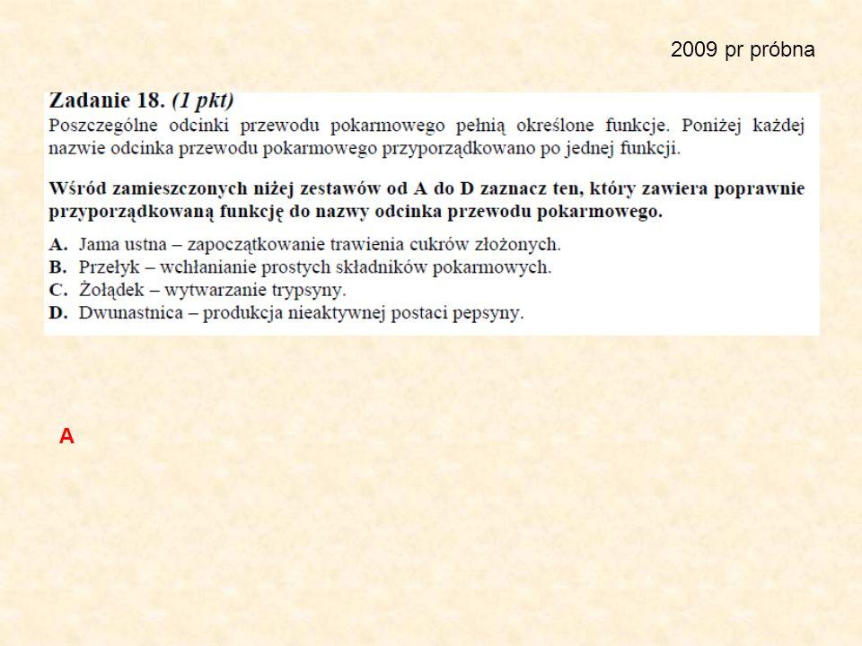 2009 pr próbna A