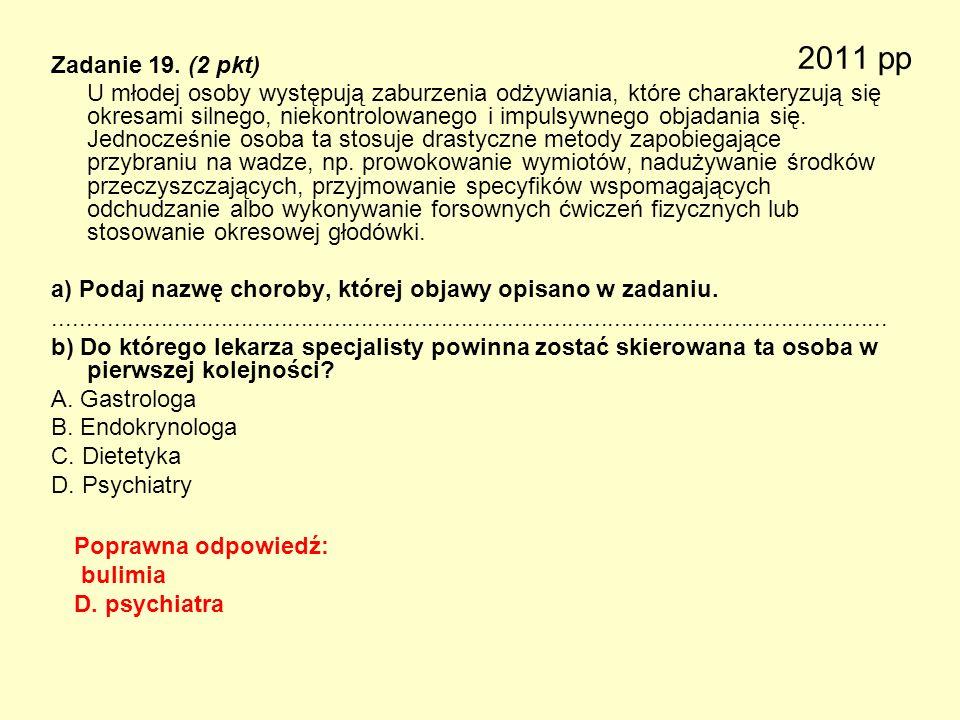 2011 pp Zadanie 19. (2 pkt)