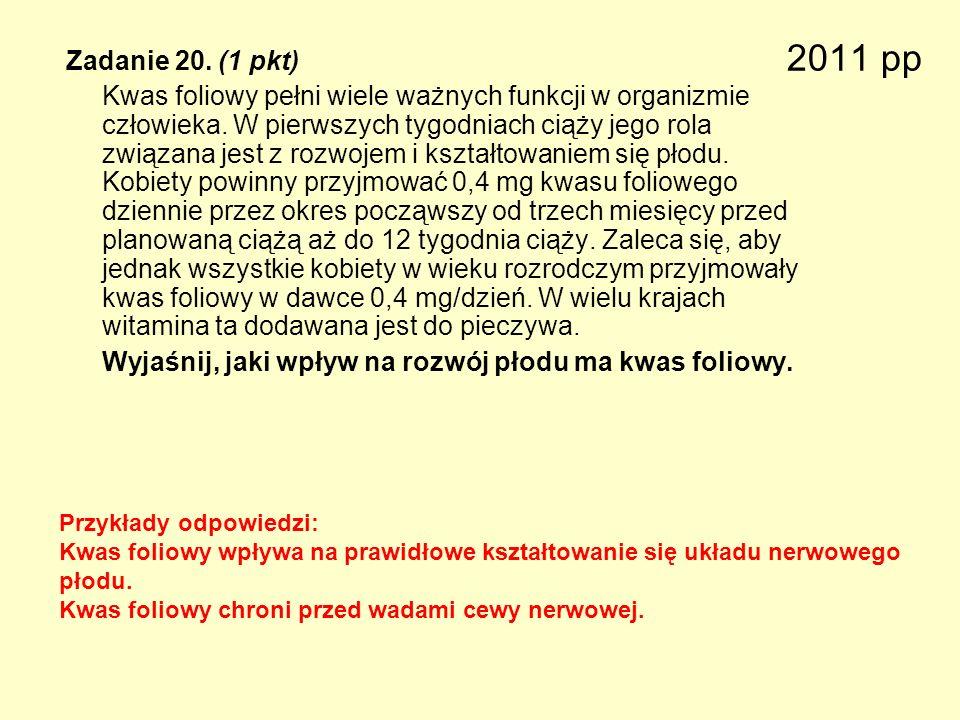 2011 pp Zadanie 20. (1 pkt)