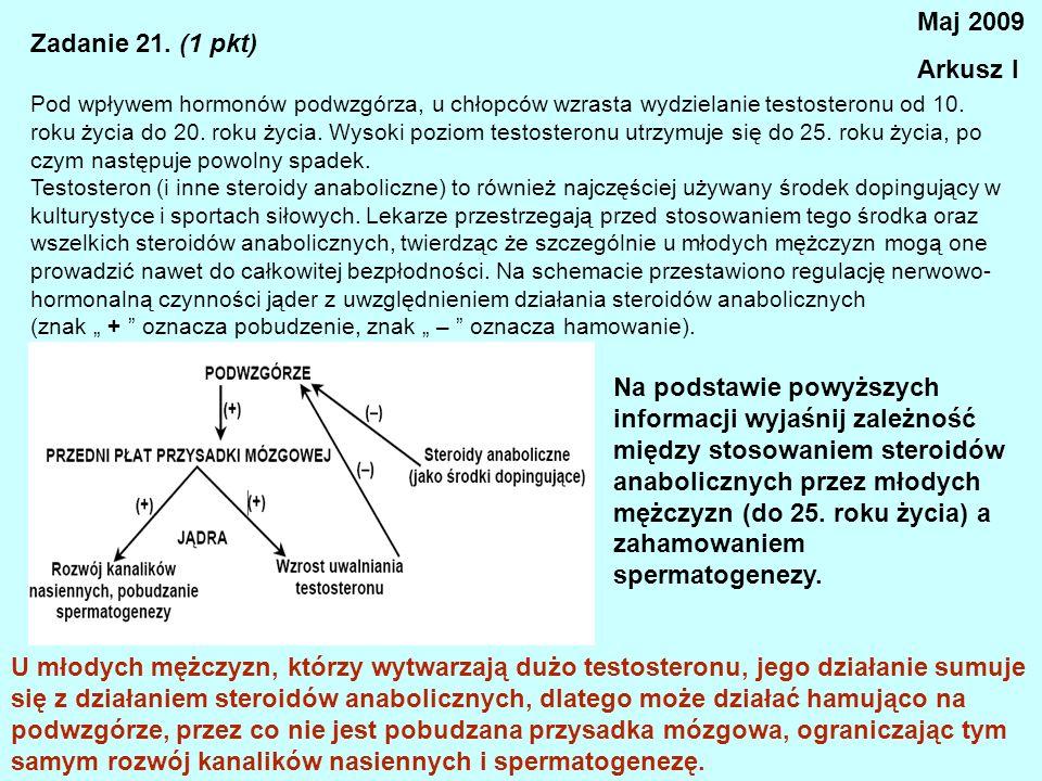 Maj 2009 Arkusz I Zadanie 21. (1 pkt)