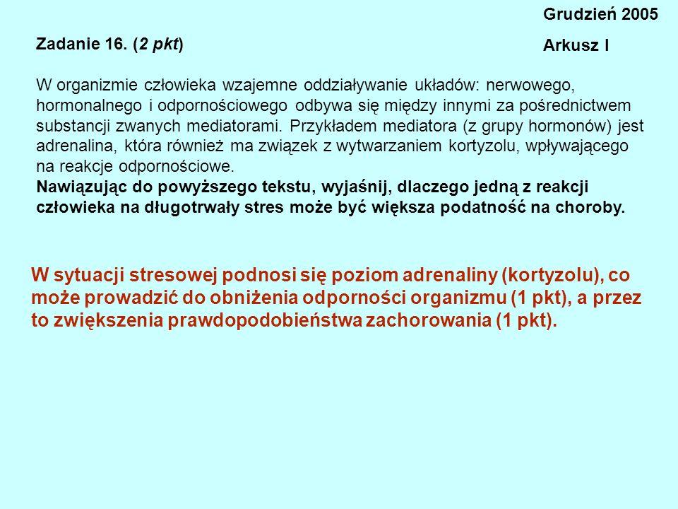 Grudzień 2005 Arkusz I. Zadanie 16. (2 pkt)