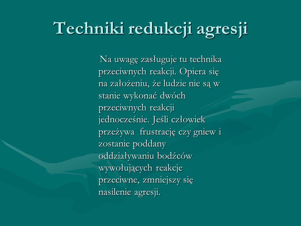 Techniki redukcji agresji