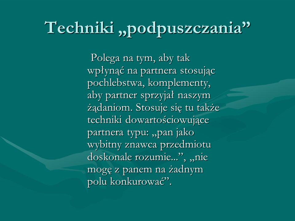 """Techniki """"podpuszczania"""
