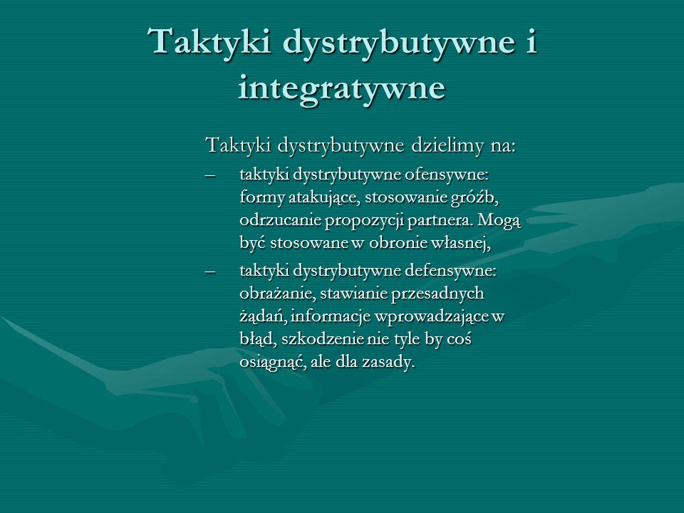 Taktyki dystrybutywne i integratywne