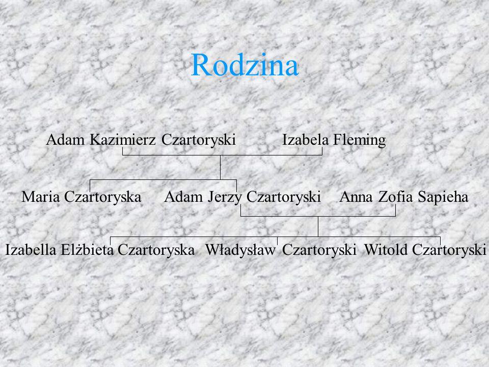 Rodzina Adam Kazimierz Czartoryski Izabela Fleming Maria Czartoryska