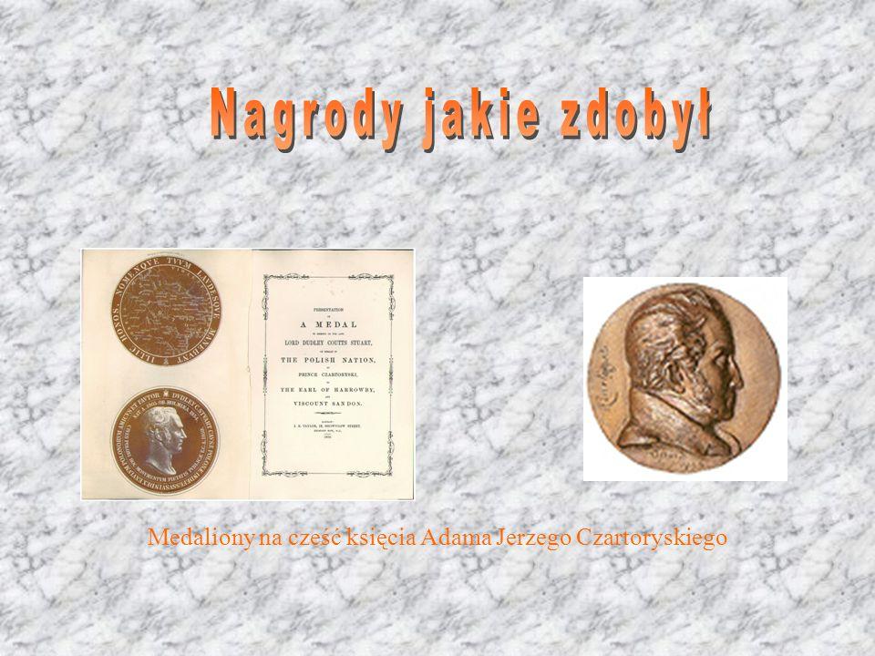 Medaliony na cześć księcia Adama Jerzego Czartoryskiego