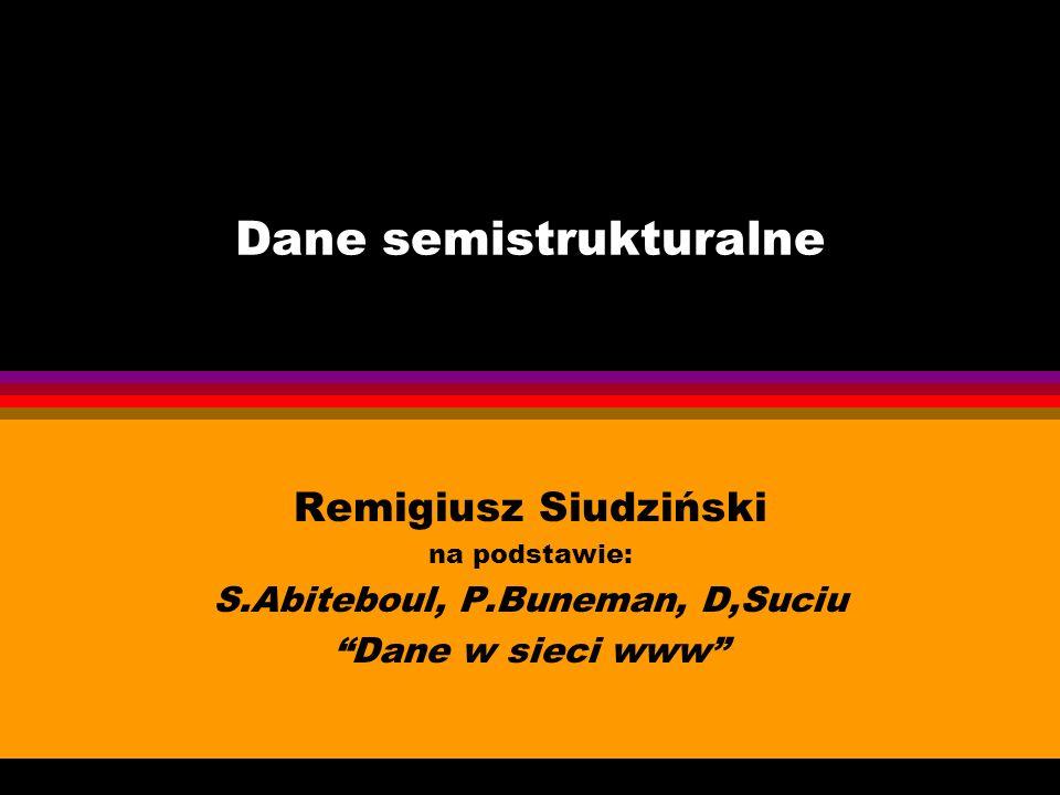 Dane semistrukturalne