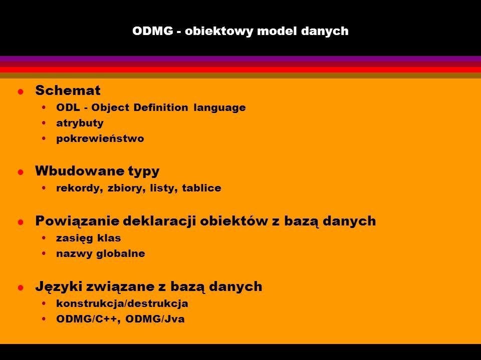ODMG - obiektowy model danych