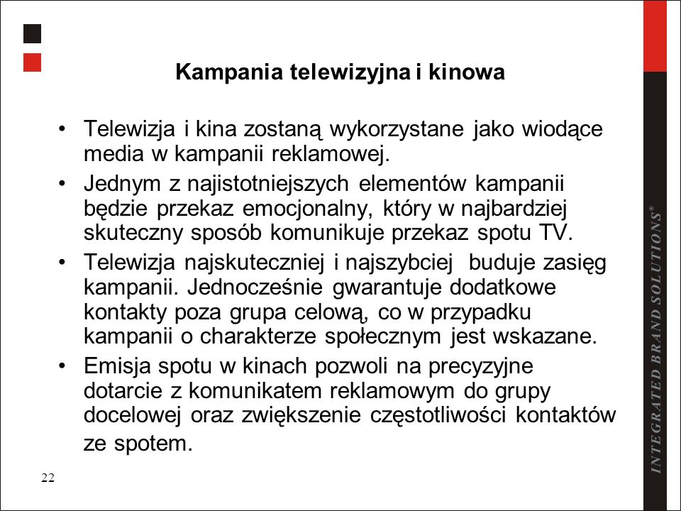 Kampania telewizyjna i kinowa