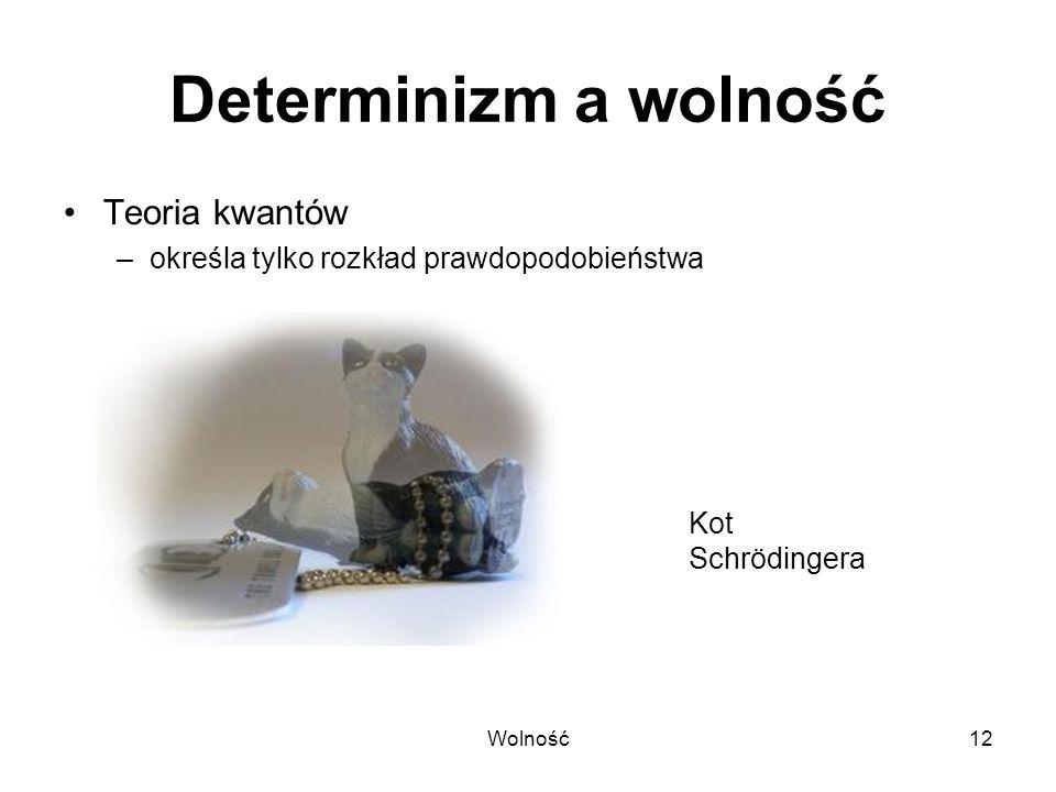 Determinizm a wolność Teoria kwantów
