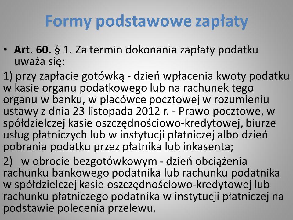 Formy podstawowe zapłaty