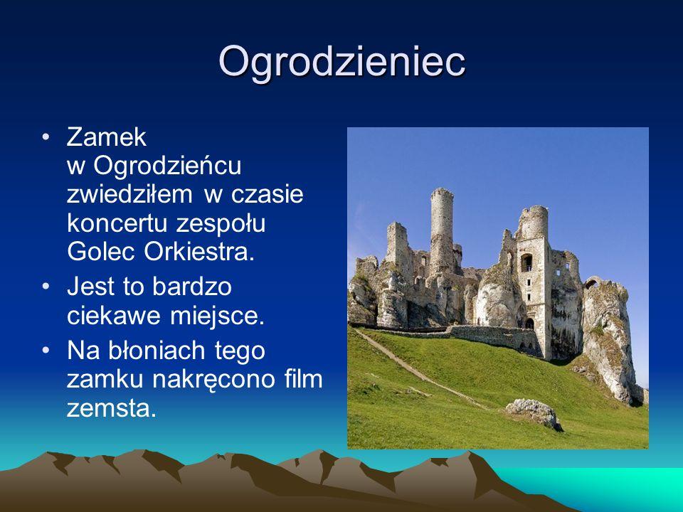 Ogrodzieniec Zamek w Ogrodzieńcu zwiedziłem w czasie koncertu zespołu Golec Orkiestra. Jest to bardzo ciekawe miejsce.