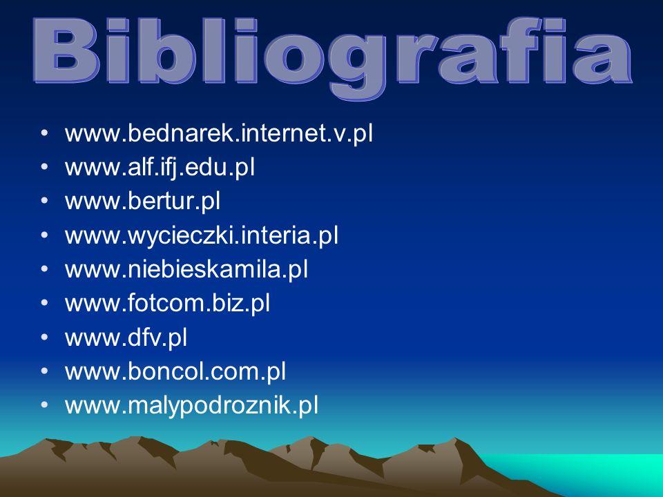 Bibliografia www.bednarek.internet.v.pl www.alf.ifj.edu.pl