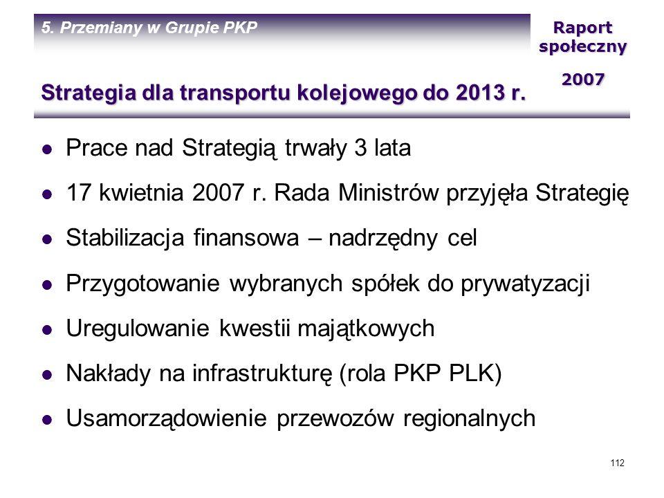 Strategia dla transportu kolejowego do 2013 r.