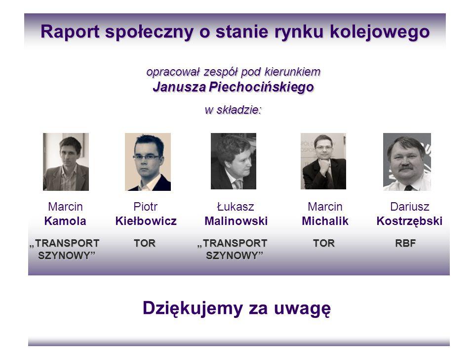 Raport społeczny o stanie rynku kolejowego Janusza Piechocińskiego
