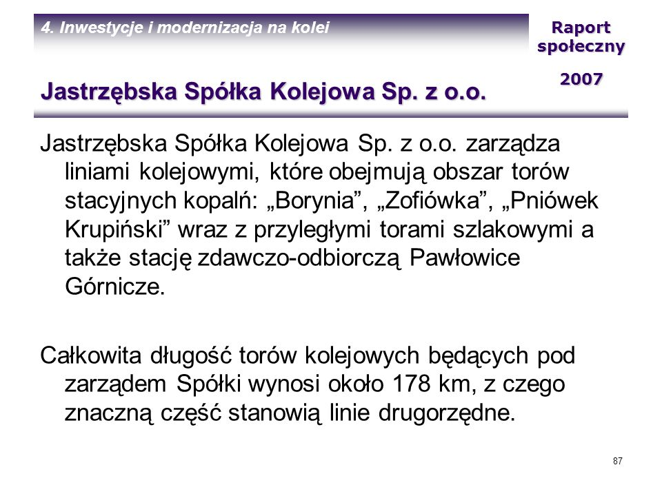 Jastrzębska Spółka Kolejowa Sp. z o.o.