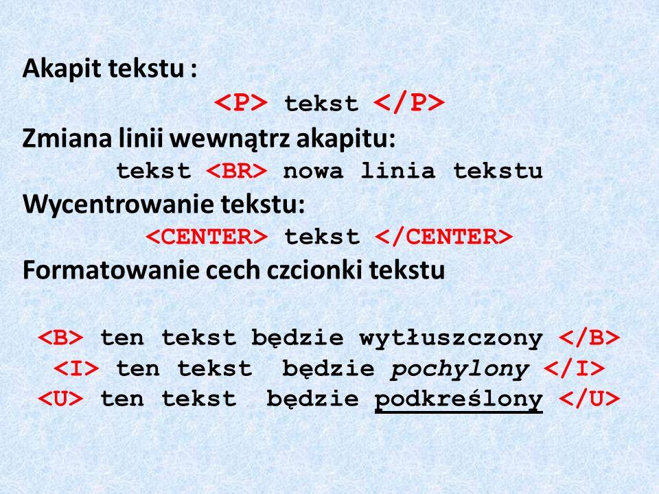 <P> tekst </P>