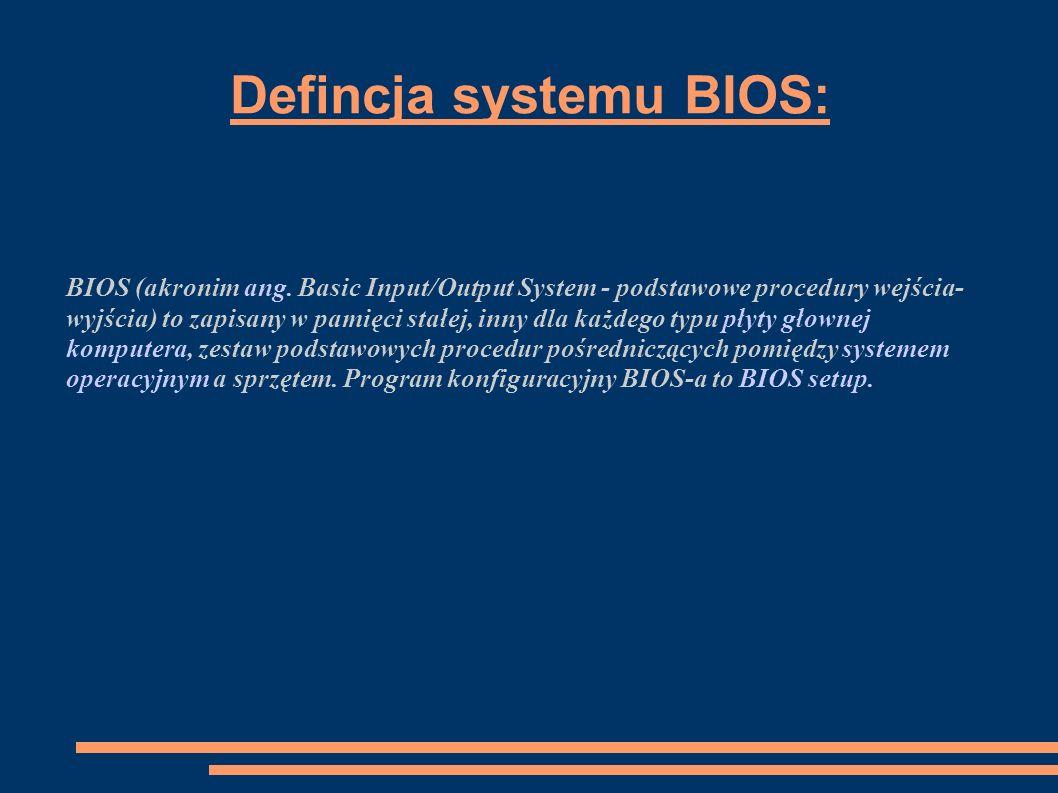 Defincja systemu BIOS: