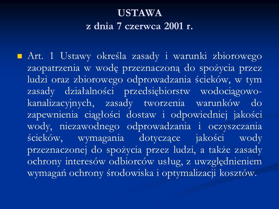 USTAWA z dnia 7 czerwca 2001 r.