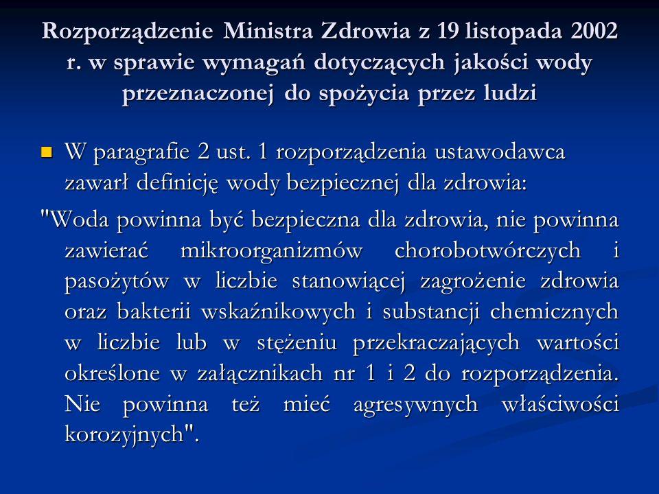 Rozporządzenie Ministra Zdrowia z 19 listopada 2002 r