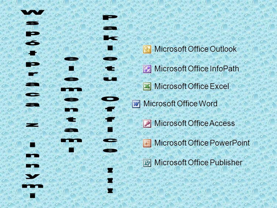 Współpraca z innymi elementami Pakietu Office !!!